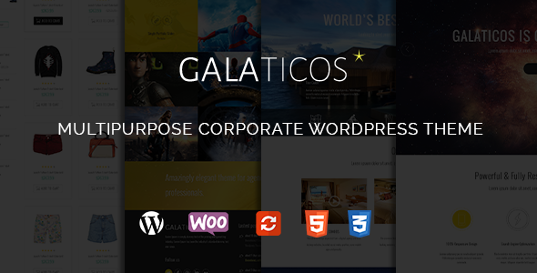 Galaticos Wordpress Multipurpose theme