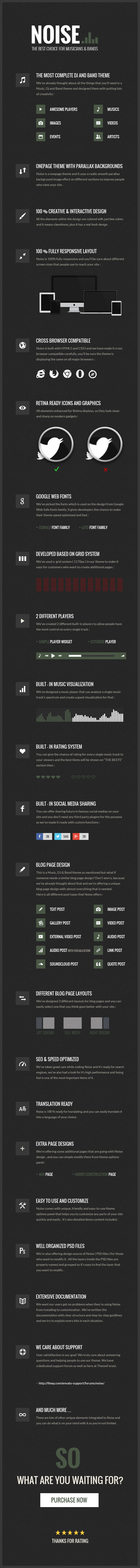 Noise - WordPress music theme
